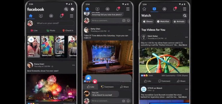 Facebook Begins Roll Out of Dark Mode on its Mobile App