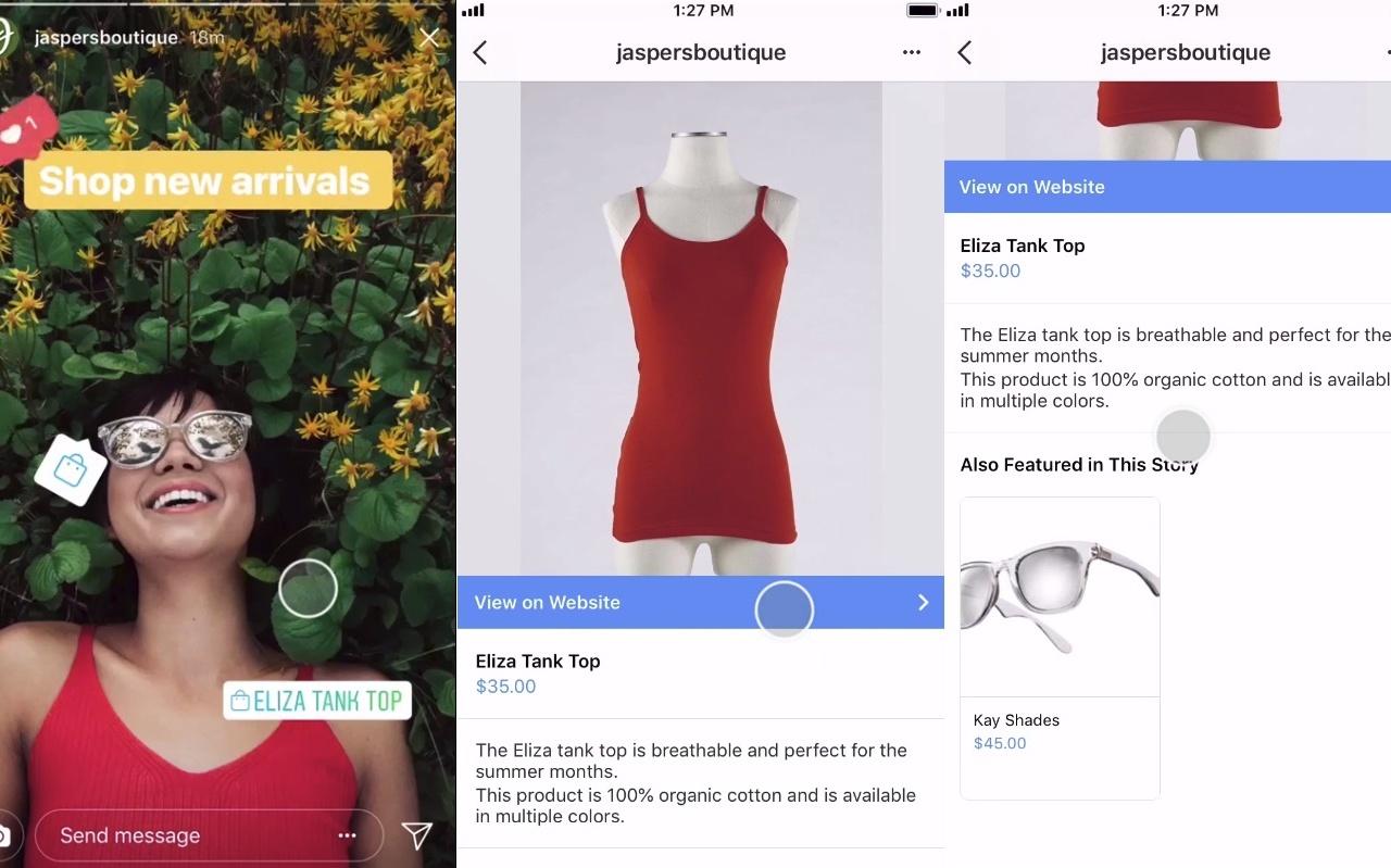 Instagram agrega nuevas etiquetas de compras dentro de las historias de Instagram | Social Media Today