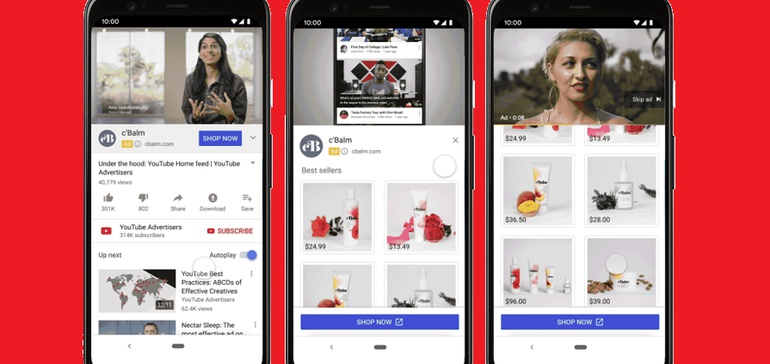 """YouTube Tests New Shoppable Product Ads, Launches """"Video Action"""" Campaigns"""