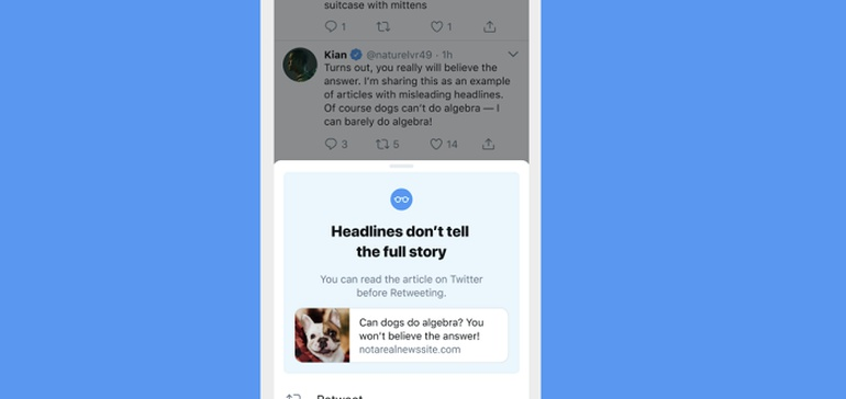 Twitter Shares Insights into the Effectiveness of its New Prompts to Get Users to Read Content Before Retweeting - Social Media Today