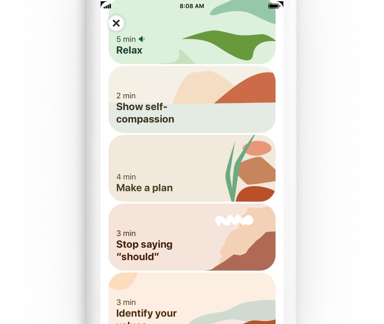 Pinterest self help exercises