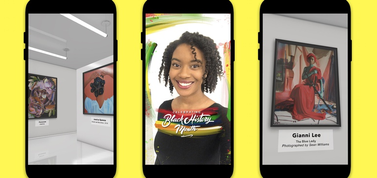 Snapchat Launches Virtual Art Gallery for Black History Month