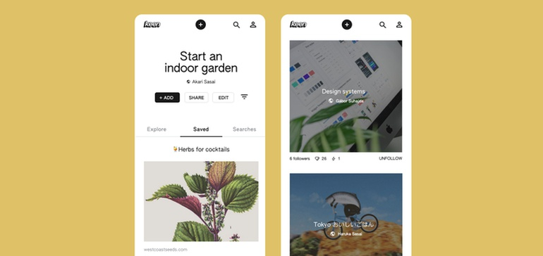 Google Has Released a New, Pinterest-Style App called 'Keen'