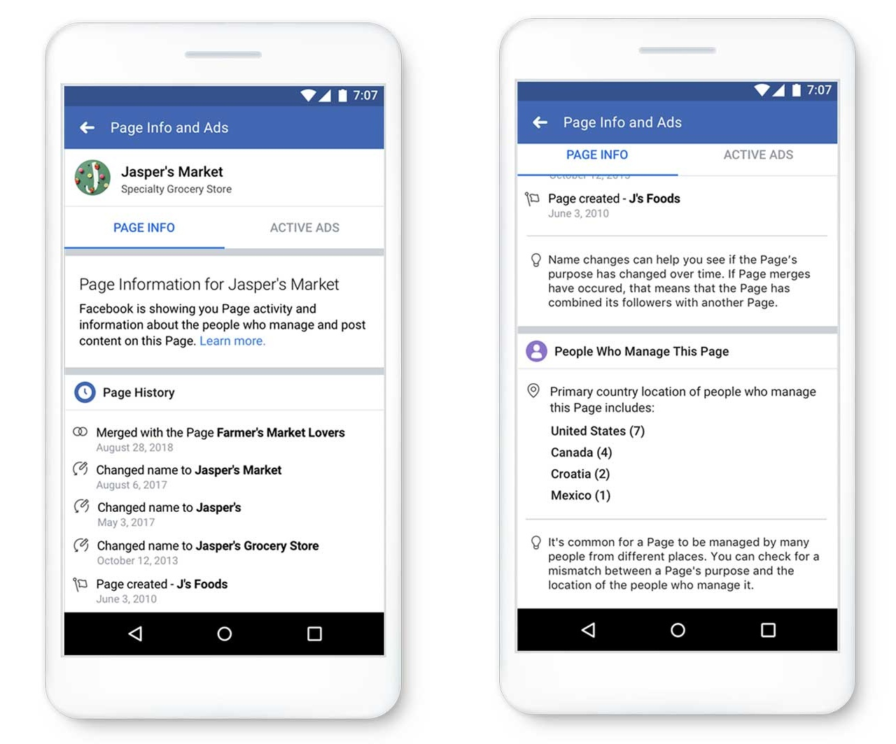 Facebook's new Page authorization tools (screenshots)