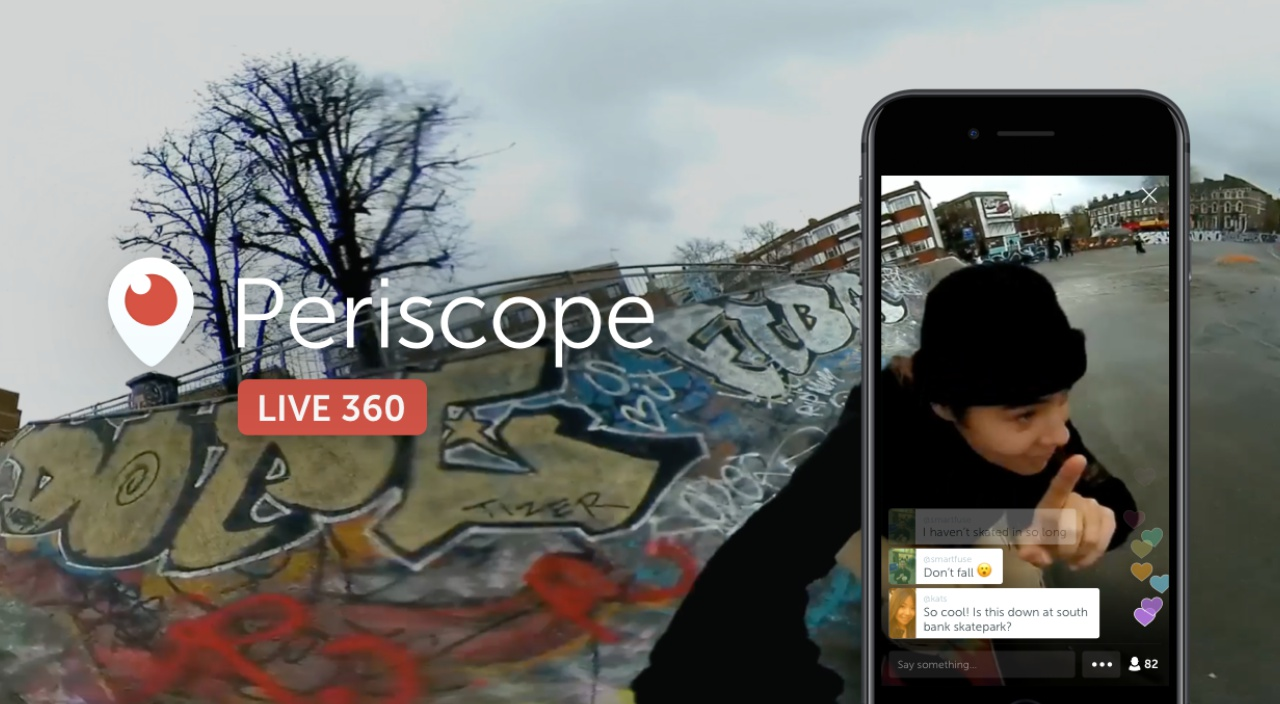Periscope 360 broadcast