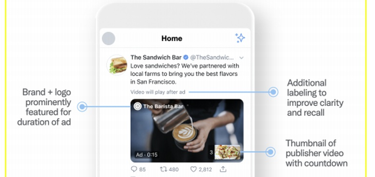 <b>Twitter</b> Updates Amplify Pre-Roll Video Ads, With New Display Format and Curated Placement ... thumbnail