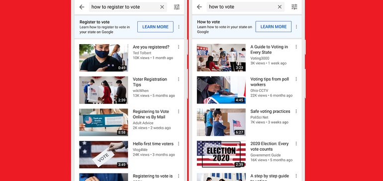 YouTube Adds New Voter Awareness Prompts in Election-Related Search Queries