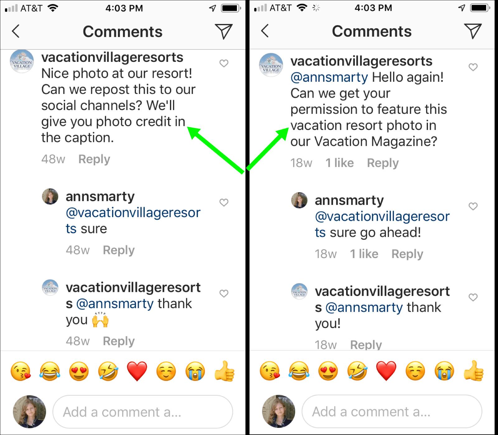 UGC Instagram feed
