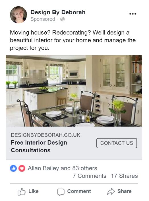 interior design ad example 1