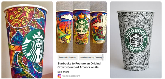 Starbucks Cup Art Board