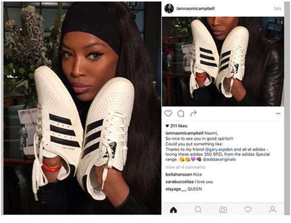 Naomi Campbell Adidas Campaign