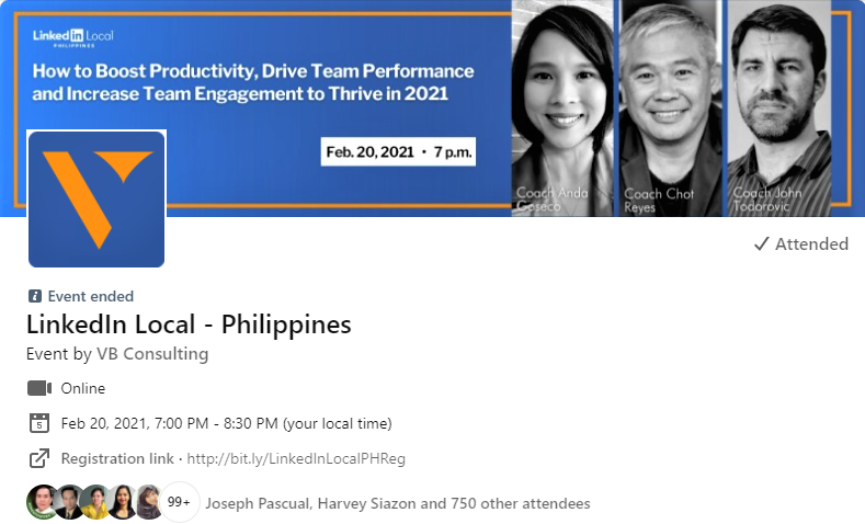 Linkedin local ph events page