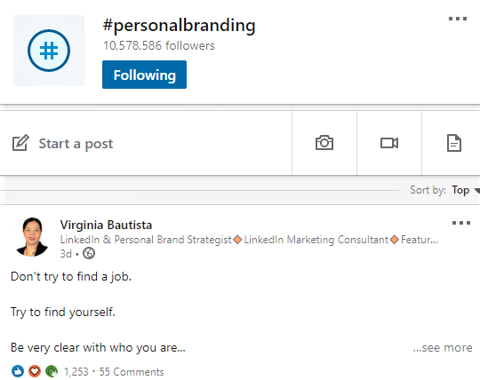Virginia Bautista's post trending in #personalbranding on LinkedIn