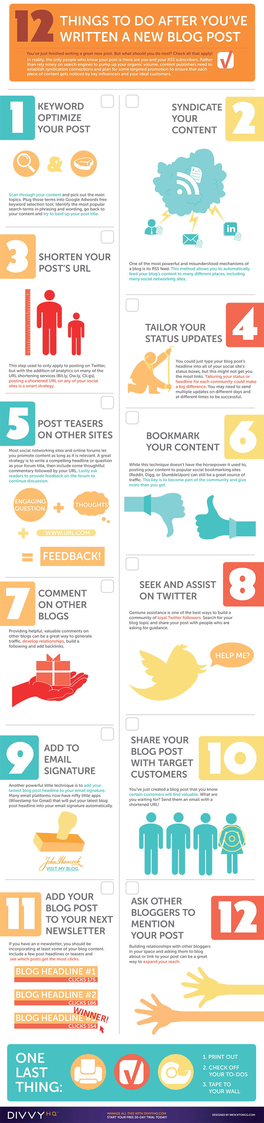 Infographic outlines 12 blog promotion tips