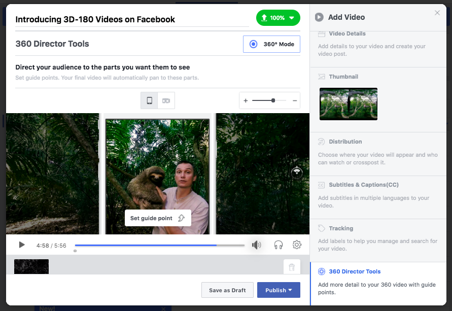 Facebook Announces 3D-180 Video - Another Step Towards VR Social                      | Social Media Today