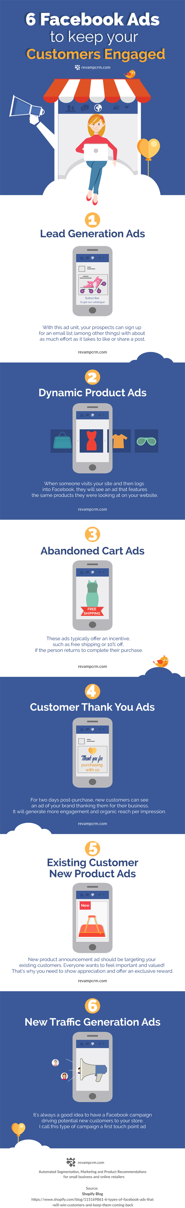 6 Facebook Ads to Keep Your Customers Engaged [Infographic] | Social Media Today