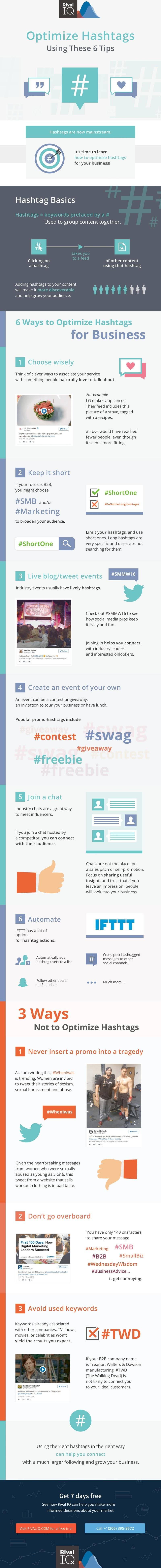 6 Cara Mengoptimalkan Hashtag untuk Bisnis [Infografik]