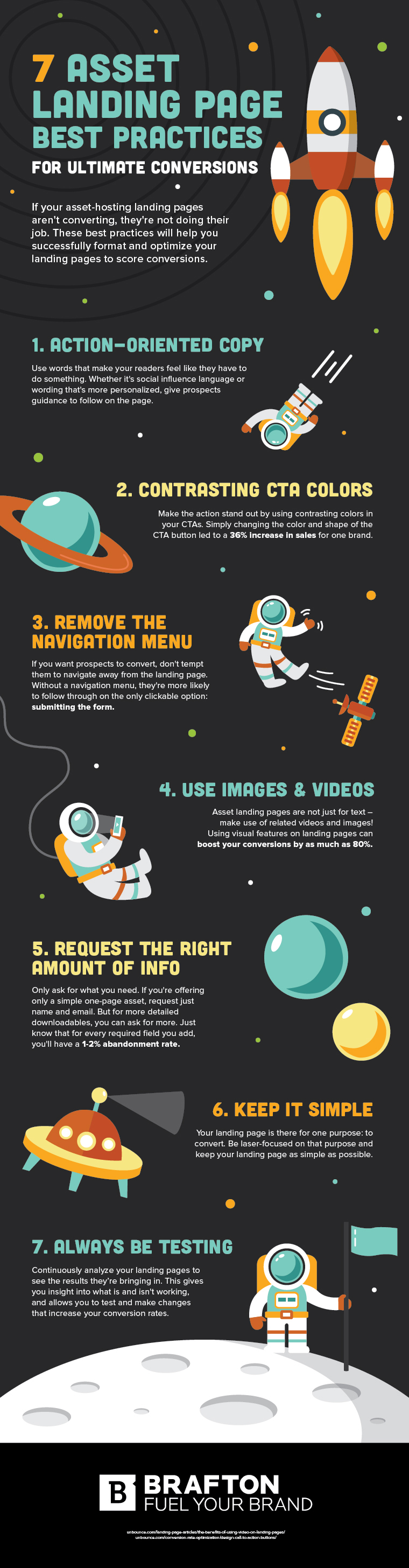 Infographic outlines tips to improve your landing page performance