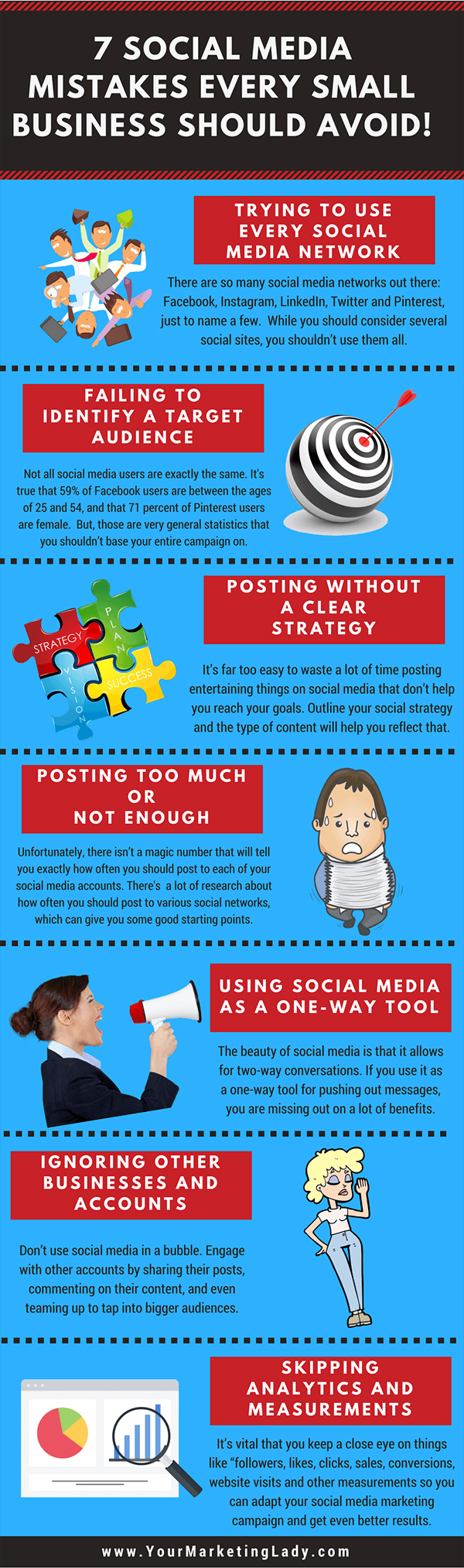 Infographic lists some common social media marketing mistakes