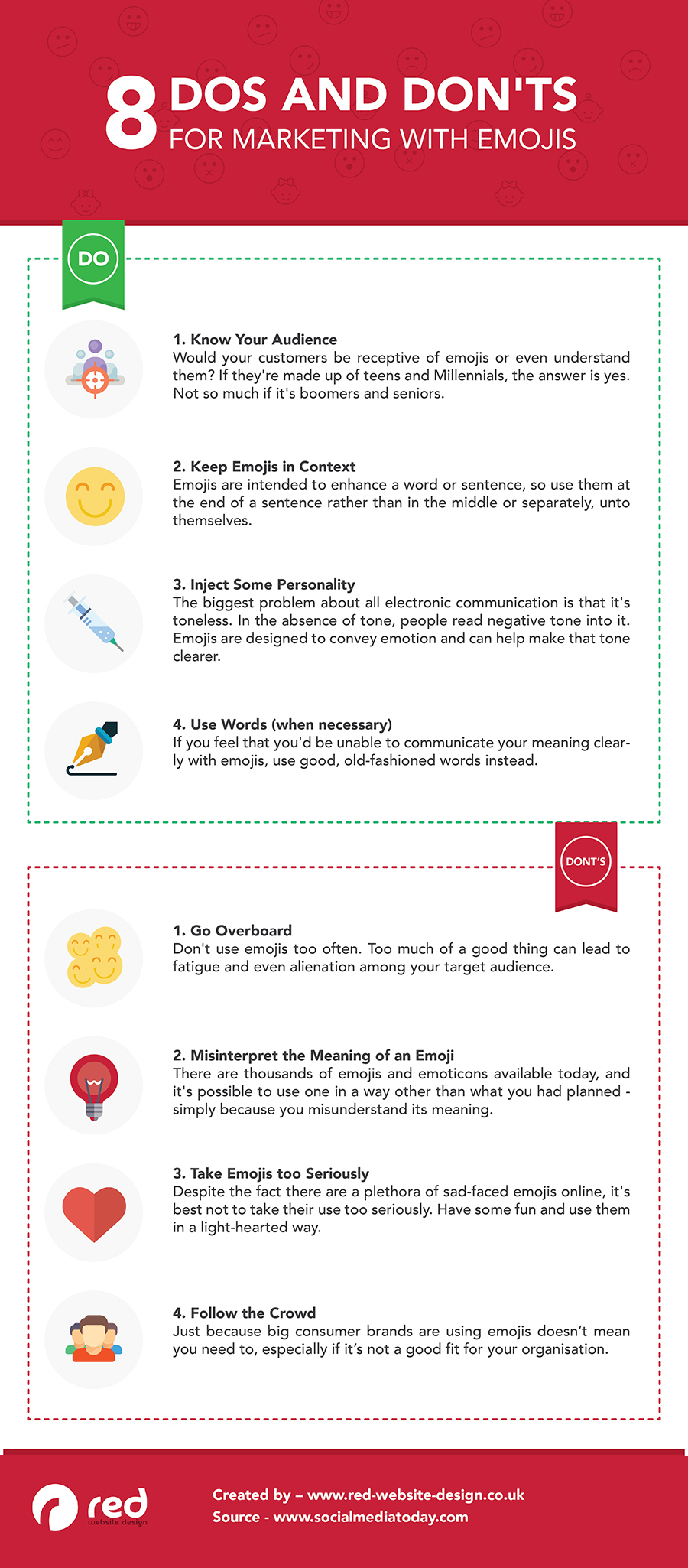 Infographic looks at how to avoid potential issues with emoji use in marketing