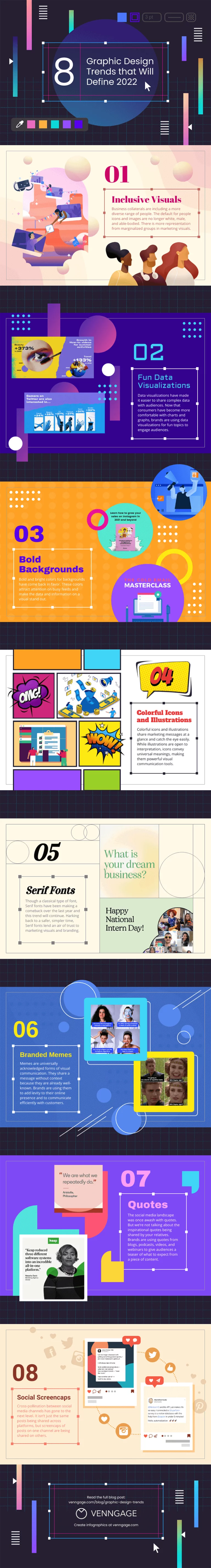 8 Graphic Design Trends for 2022 listing