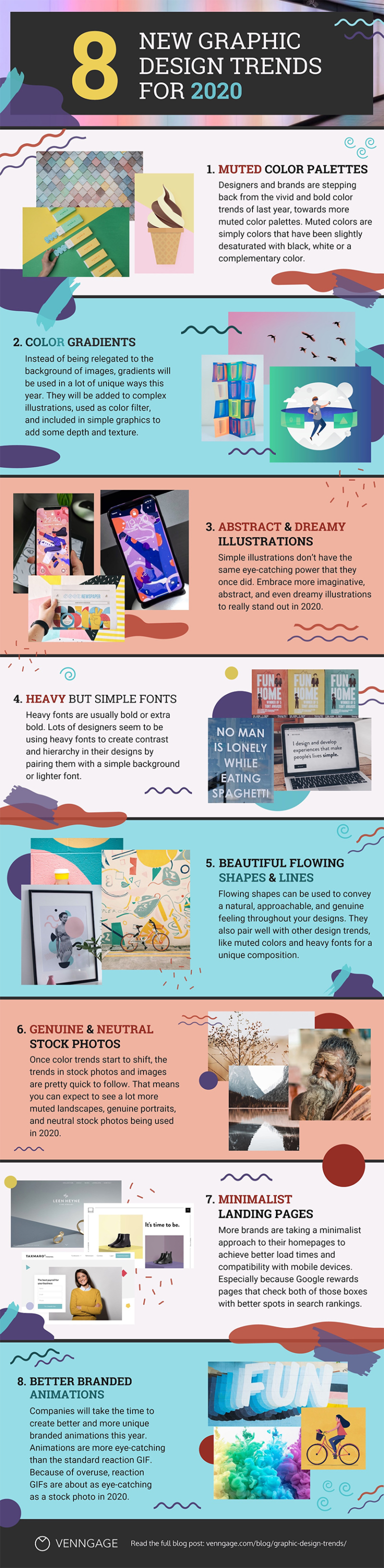Infographic looks at emerging graphic design trends