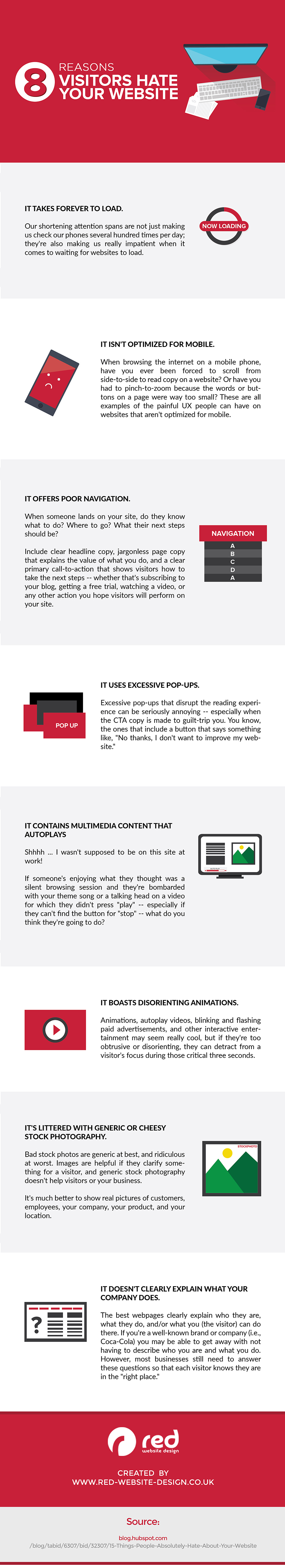 Infographic looks at common website problems