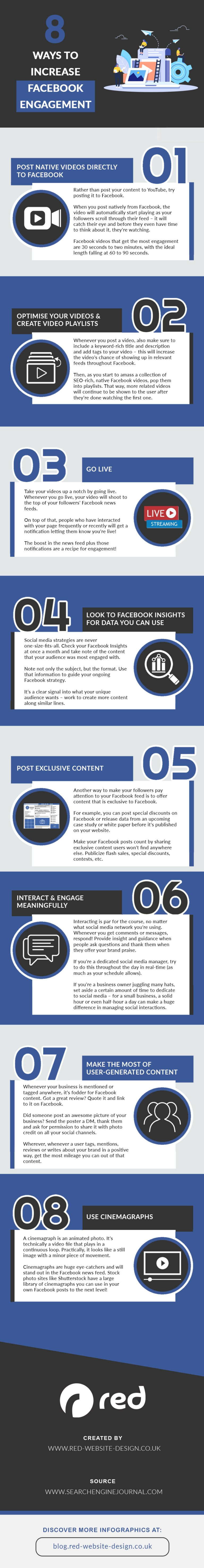 Infographic lists Facebook Page engagement tactics