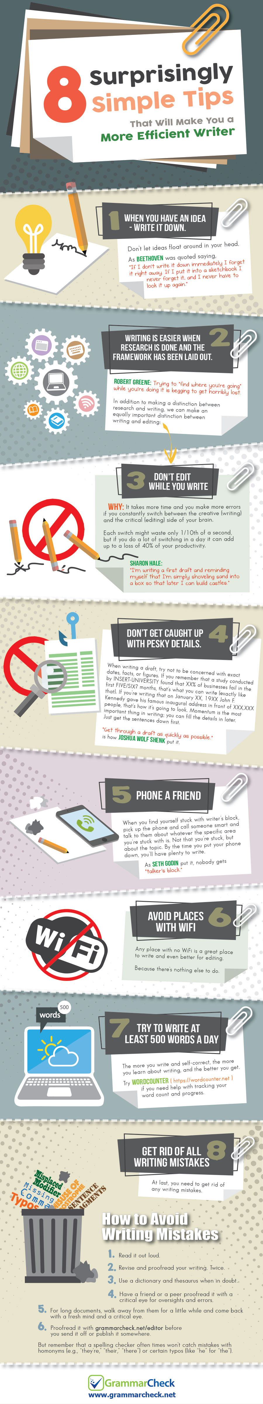 Infographic outlines tips to improve your writing output