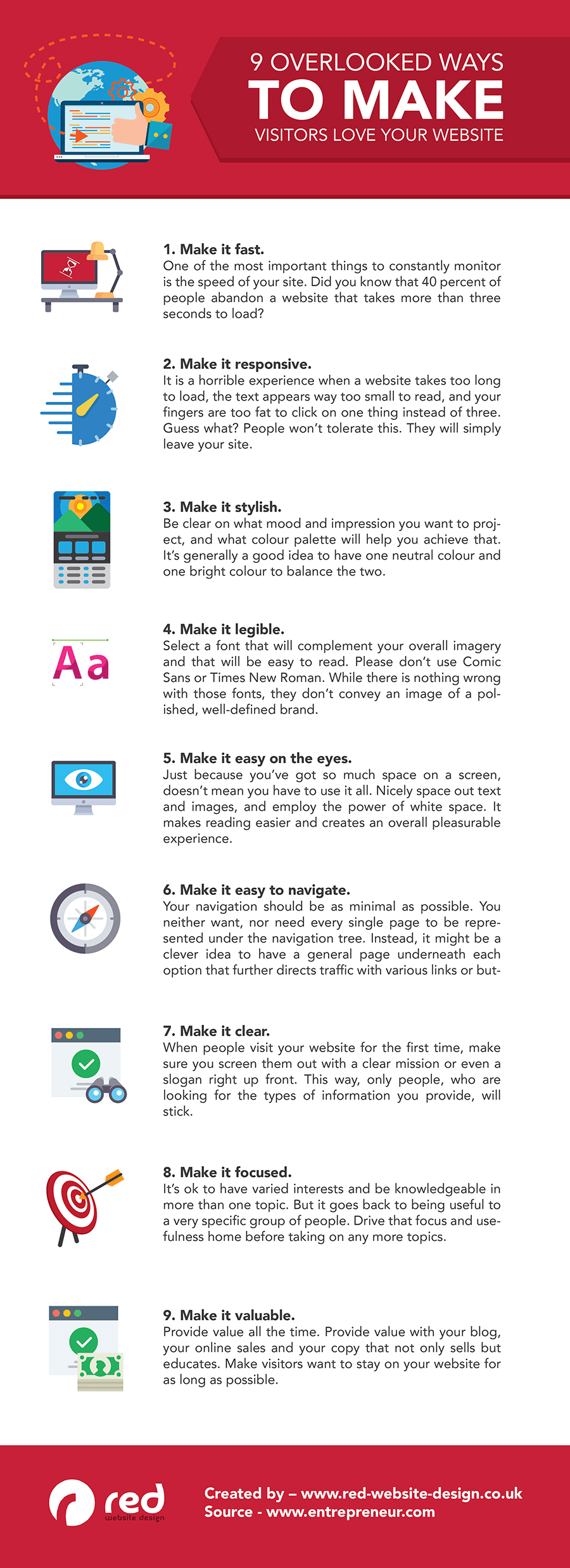 9 Tips to Create a Website Your Visitors & Google Will Love [Infographic] | Social Media Today