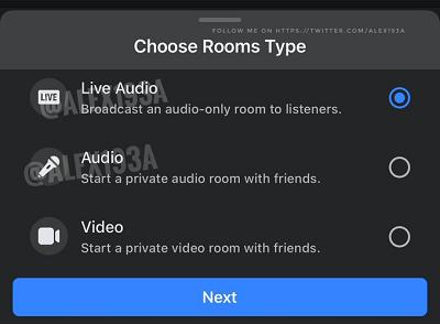 Аудио-комната Facebook