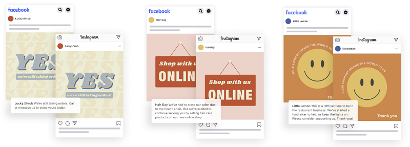 Facebook business templates