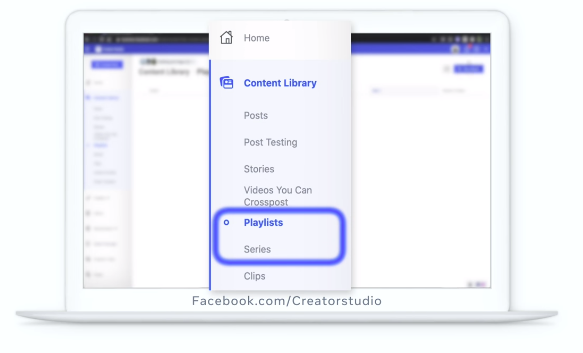 Facebook video playlist creation in Creator Studio