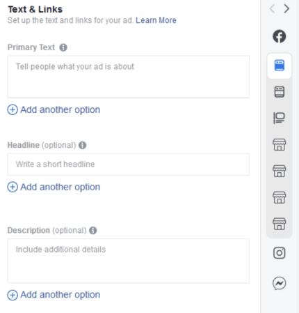 Facebook text variations