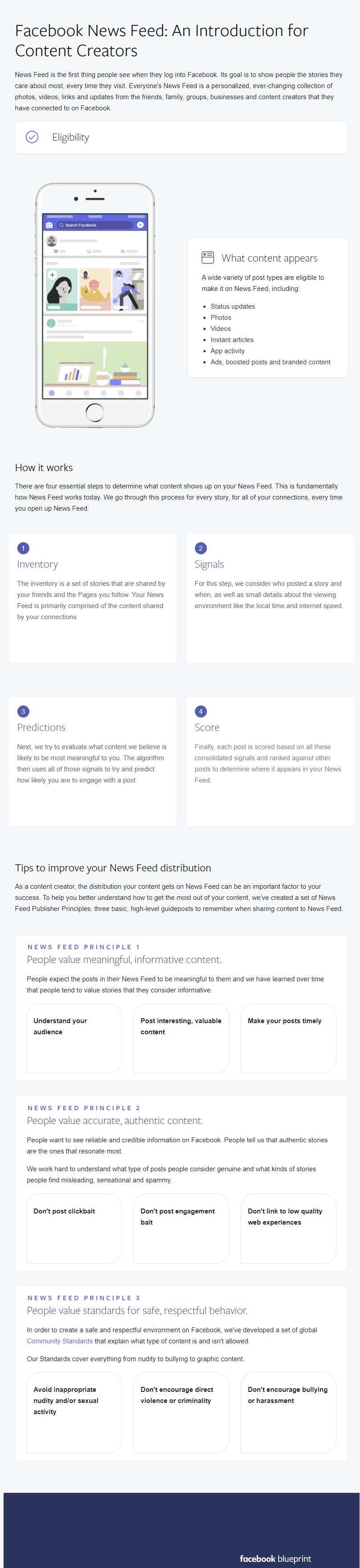 Infographic outlines Facebook News Feed tips and pointers