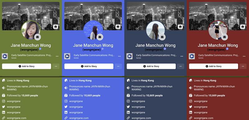 Facebook adaptive color background