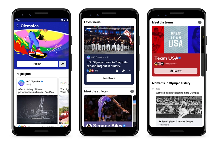 Facebook Olympic Games hub