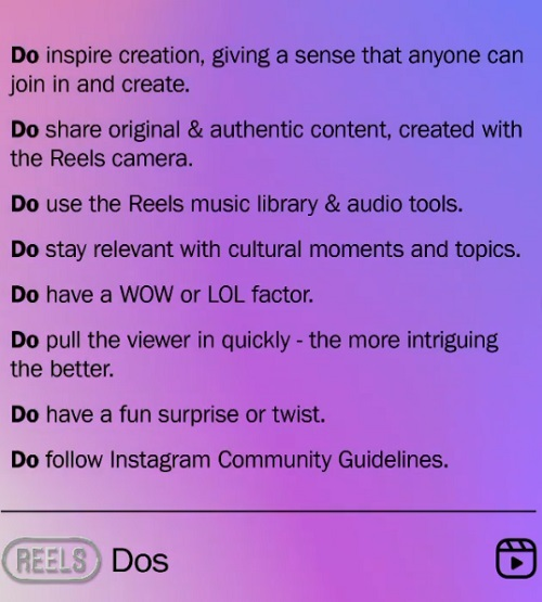 Instagram Reels tips