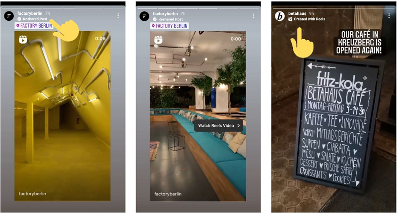 Instagram feed post labels in Stories