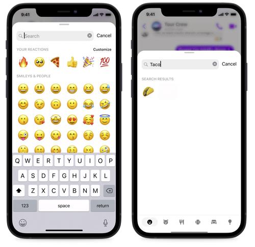 Messenger emoji seçici