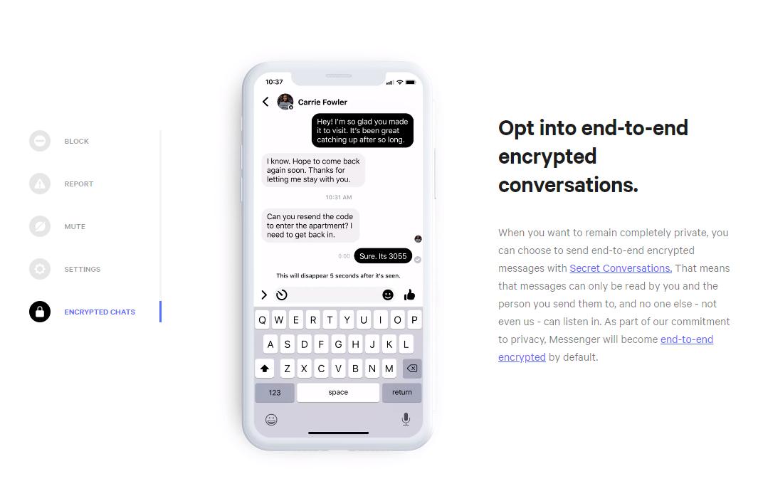 Facebook Messenger Privacy Center