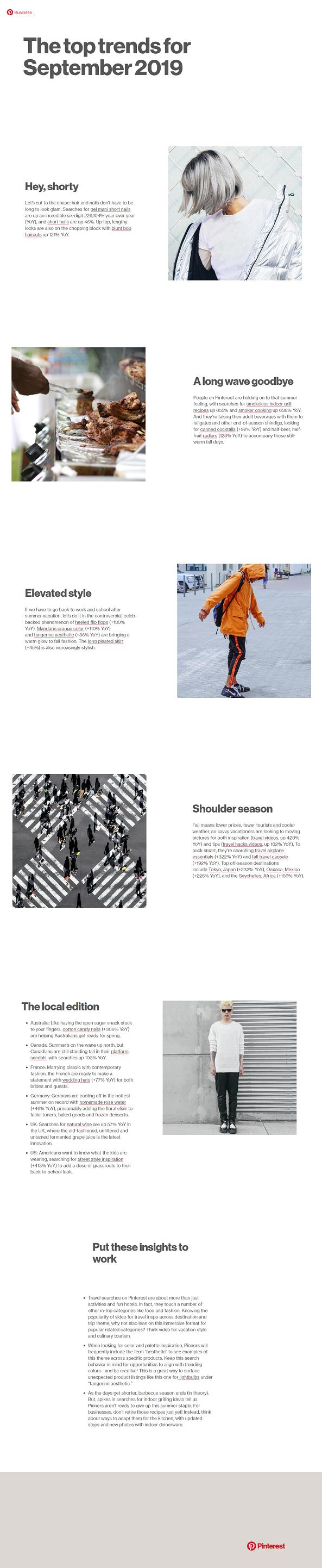 Pinterest trends - September 2019