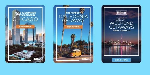 Hilton Hotels Pinterest