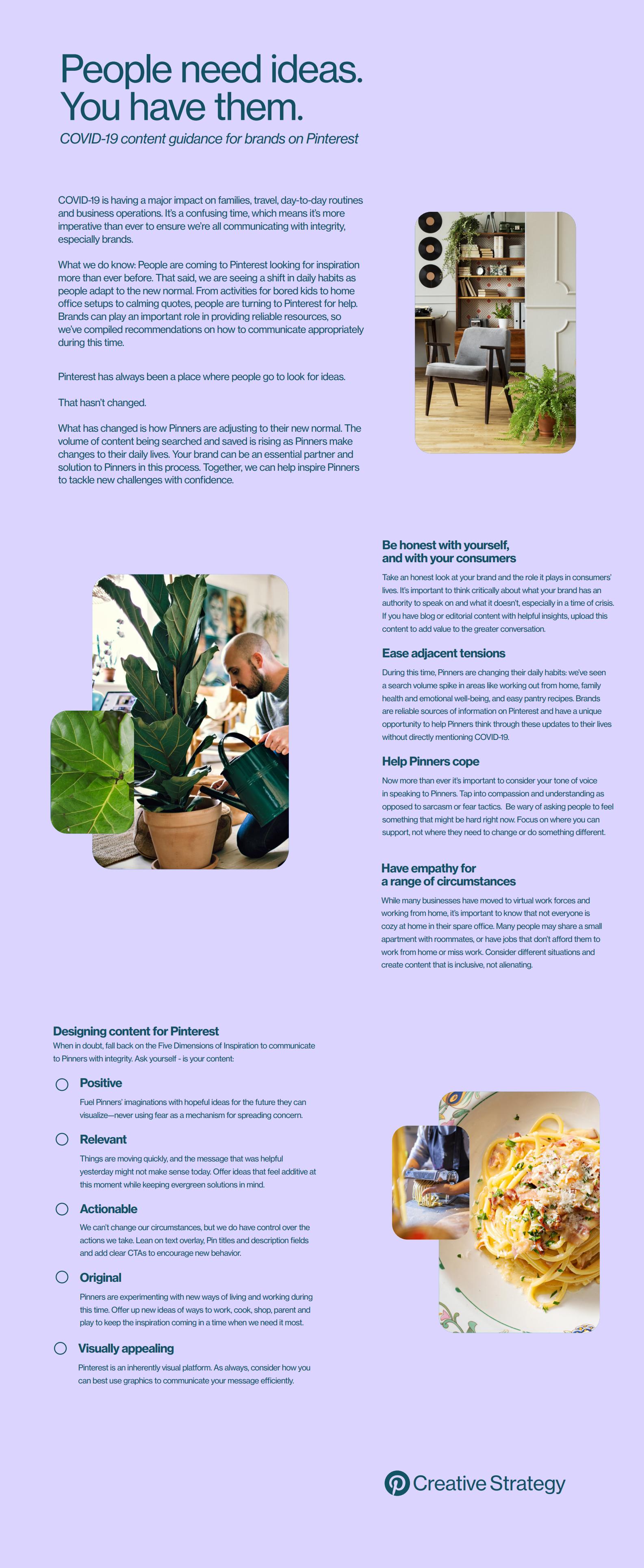 Pinterest COVID-19 tips