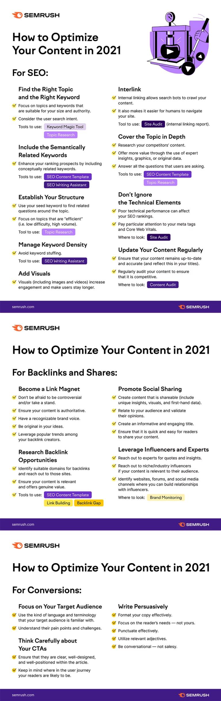 SEMRush content optimization guide