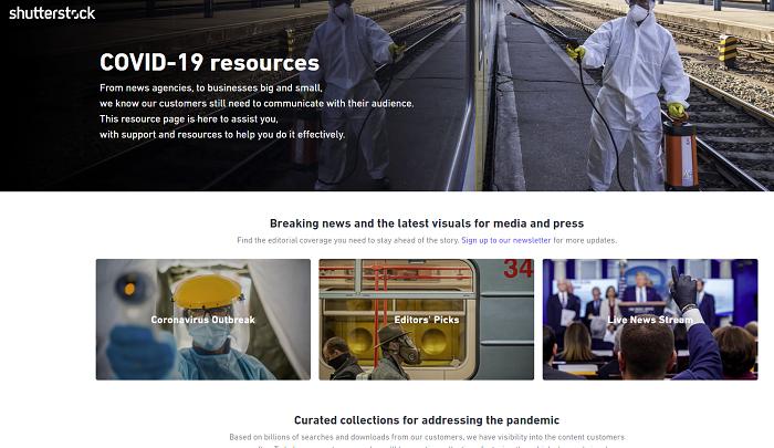 Shutterstock COVID-19 hub