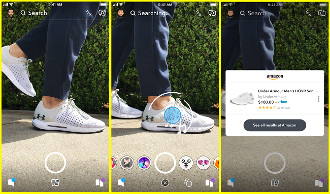 Snapchat's new visual search tools [screenshots]