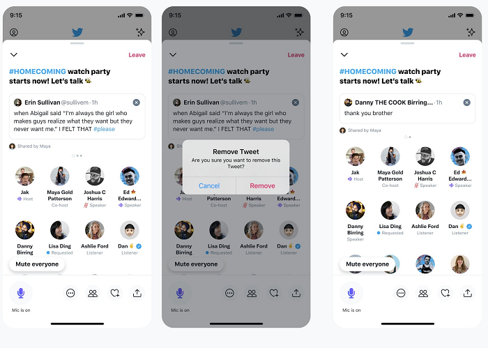 , Twitter Adds Editing Options for Schedules Spaces