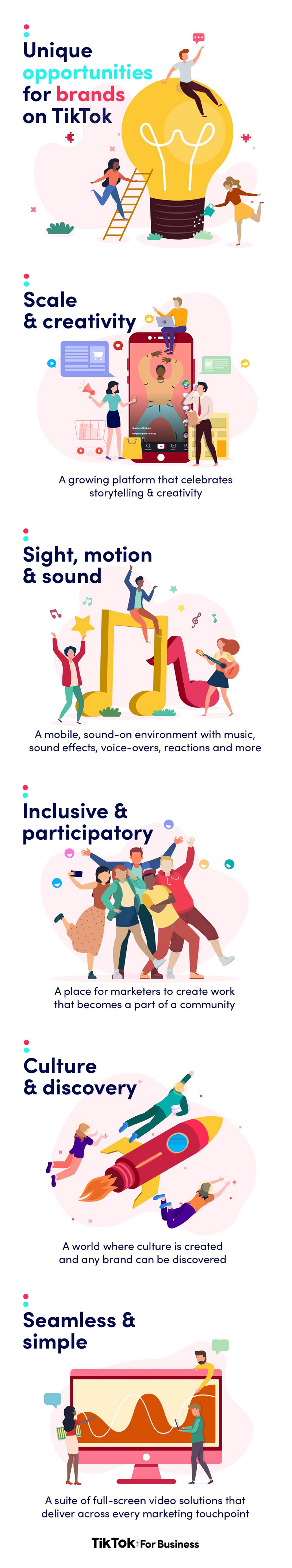 TikTok for marketing infographic