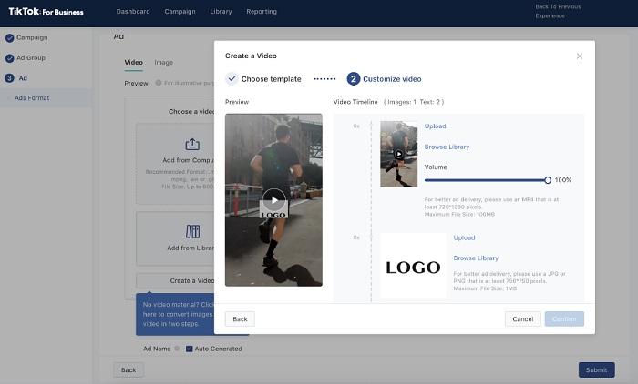 TikTok ad platform
